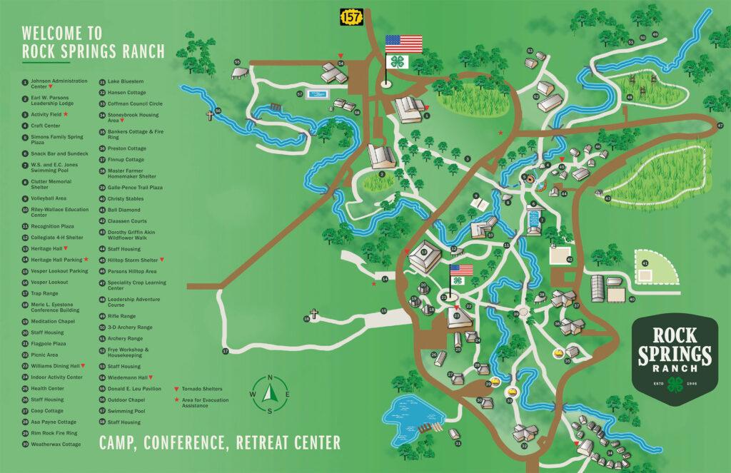 Rock Springs Ranch Map
